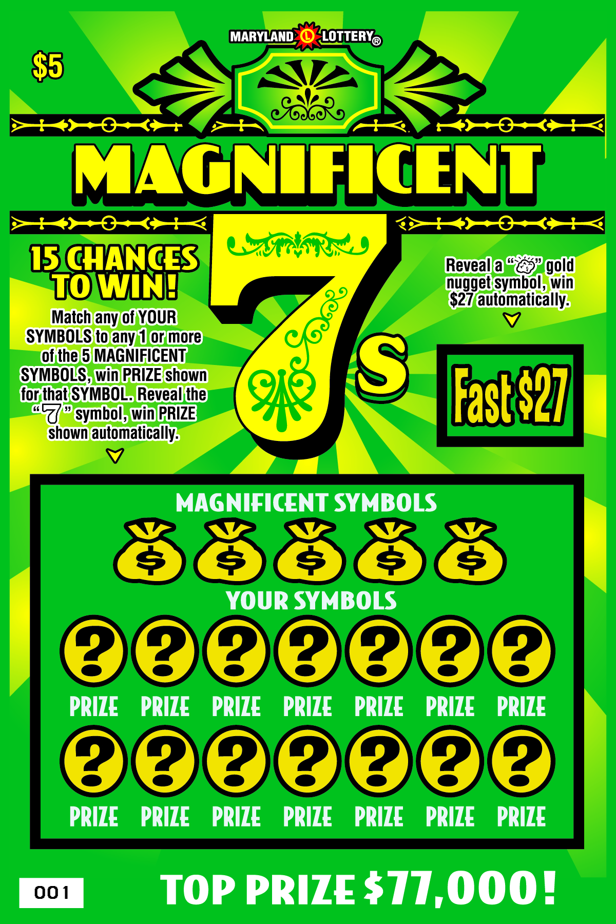 Scratch Off 92 Football Grounds Print: Extreme Cash Blast