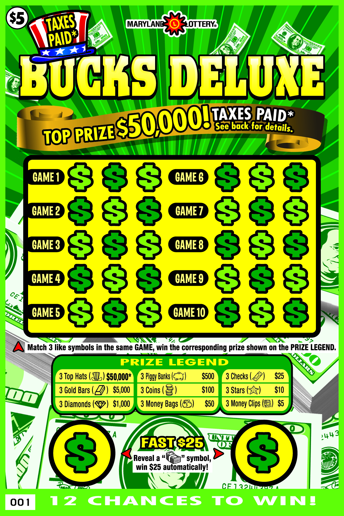 Fast Buck Lucky Scratch Cards - Play it Now for Free