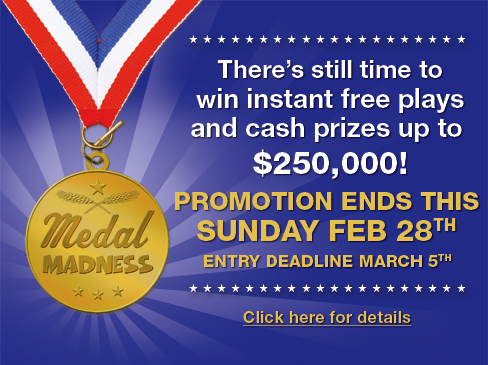 Medal Madness - Promotion ends 2/28