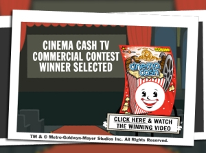 Cinema Cash - video contest winner