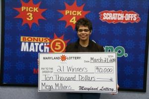 21 Winners - Mega Millions