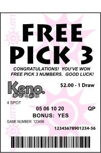 Keno - Pick 3
